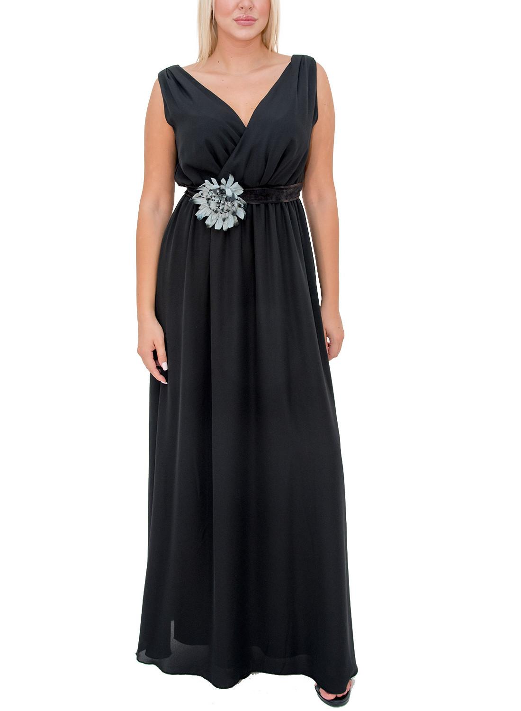 Φόρεμα με θηλυκό μπούστο και ζώνη