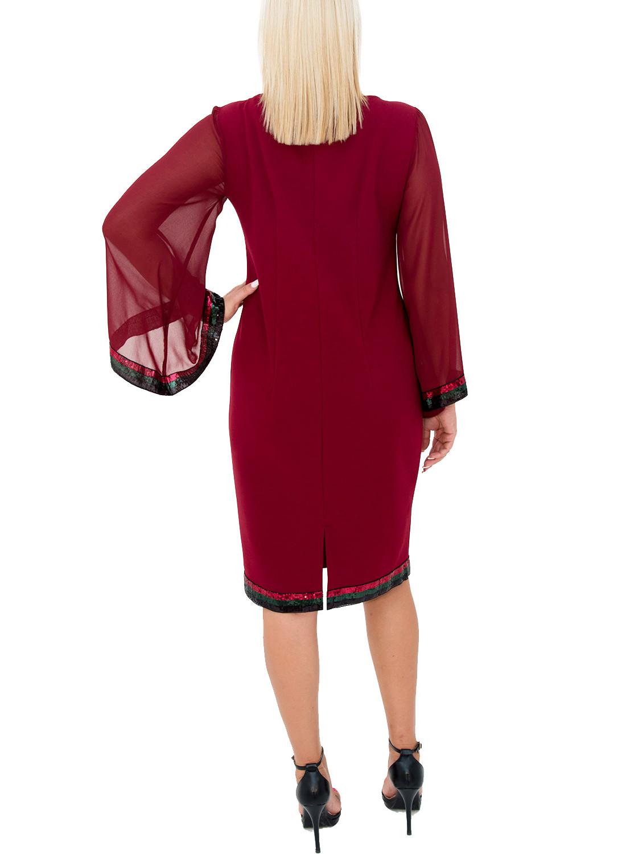 Εντυπωσιακό μπορντό φόρεμα