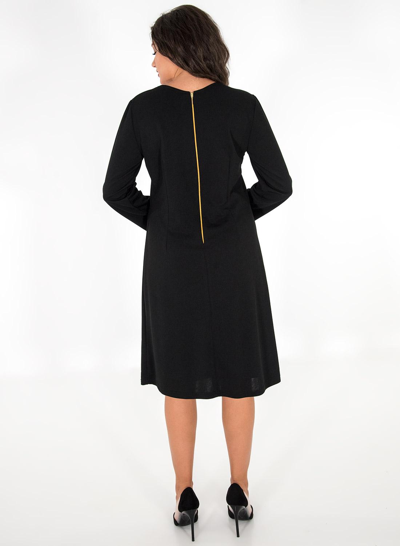 Μαύρο φόρεμα με λεοπάρ λαιμόκοψη