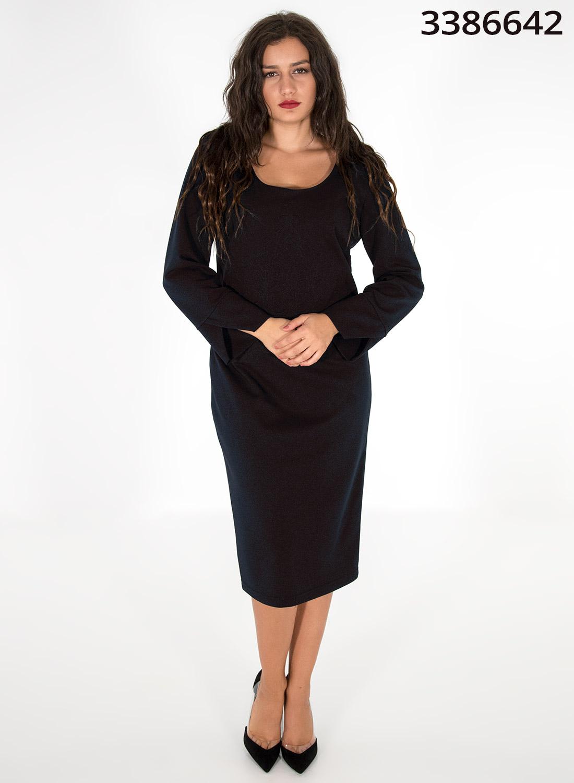 Μαύρο φόρεμα με ανάγλυφο σχέδιο
