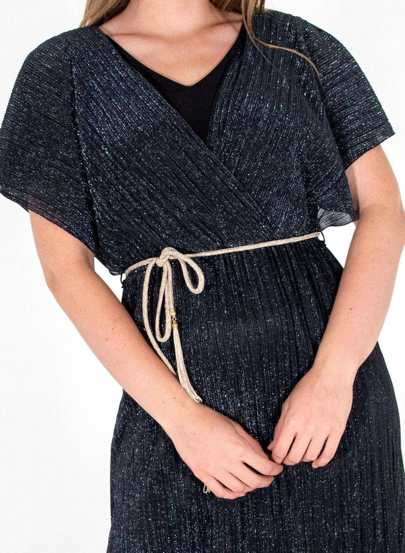 Κρουαζέ φόρεμα με ζώνη
