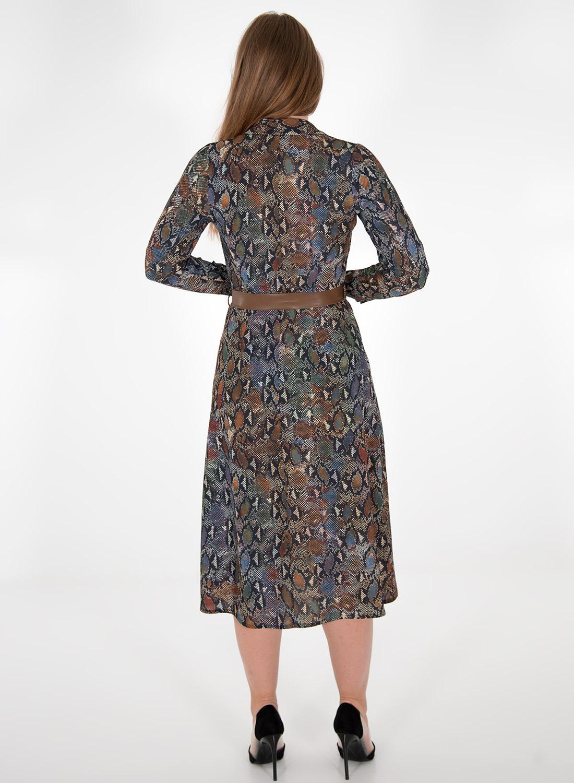 Εμπριμέ φόρεμα με κουμπιά