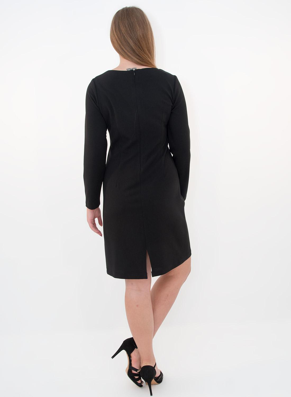 Ολόμαυρο ίσιο φόρεμα