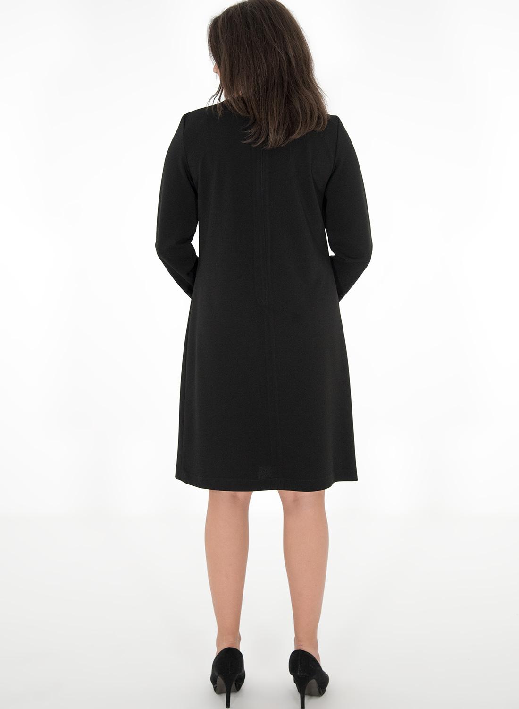 Κρεπ ολόμαυρο φόρεμα