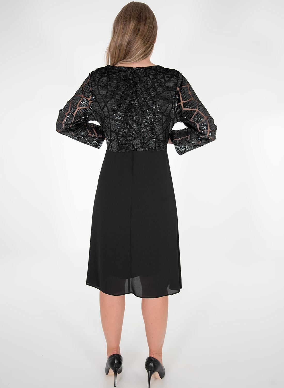 Αμπιγιέ κρουαζέ μαύρο φόρεμα
