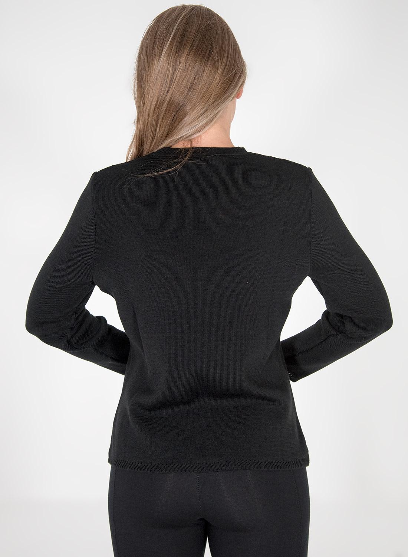 Ολόμαυρη πλεκτή μπλούζα