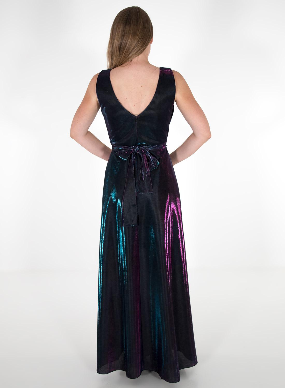 Αμπιγιέ μάξι φόρεμα με ζώνη