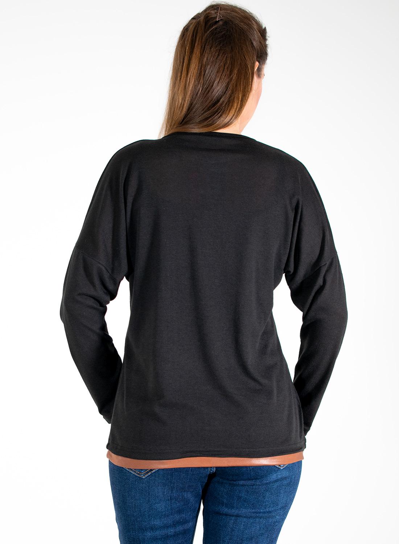 Μαύρη μπλούζα με στάμπα