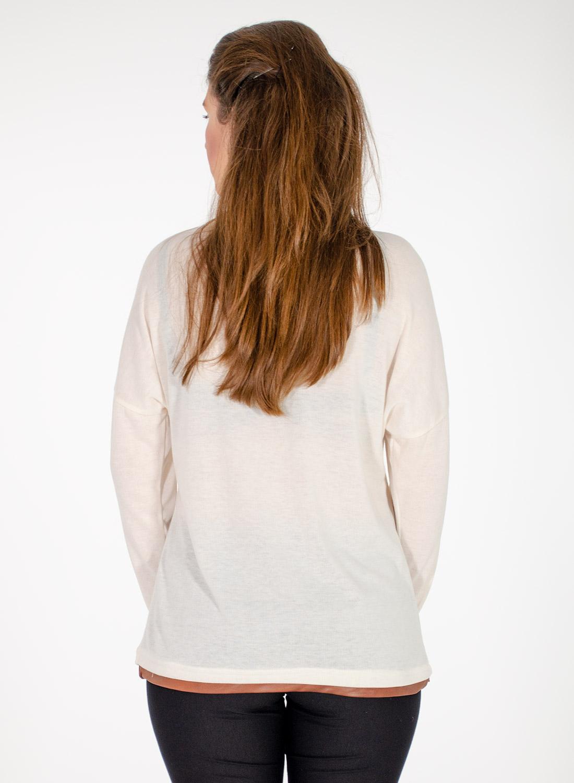 Λευκή μπλούζα με στάμπα