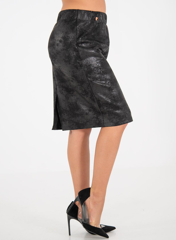 Ελαστική εντυπωσιακή μαύρη φούστα