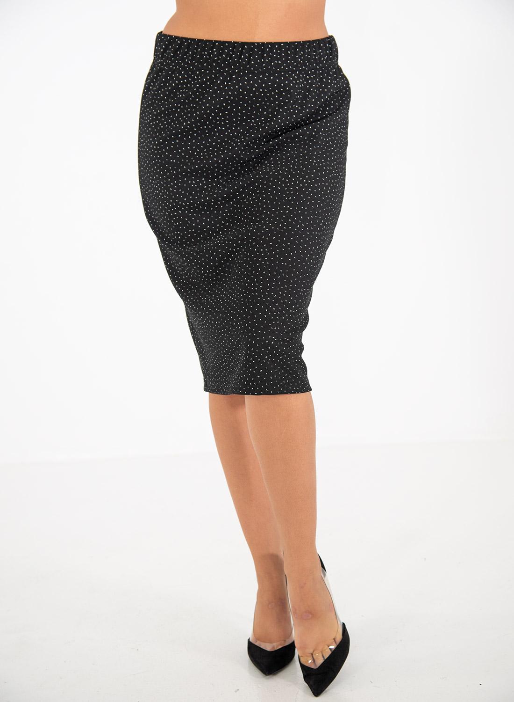 Ελαστική φούστα με λάστιχο στη μέση