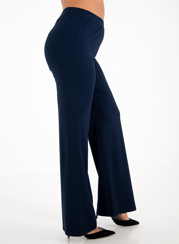 Μπλε παντελόνα με λάστιχο στη μέση