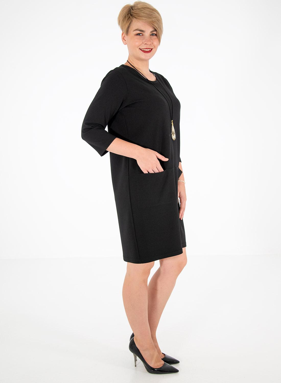 Μαύρο φόρεμα με τσέπες