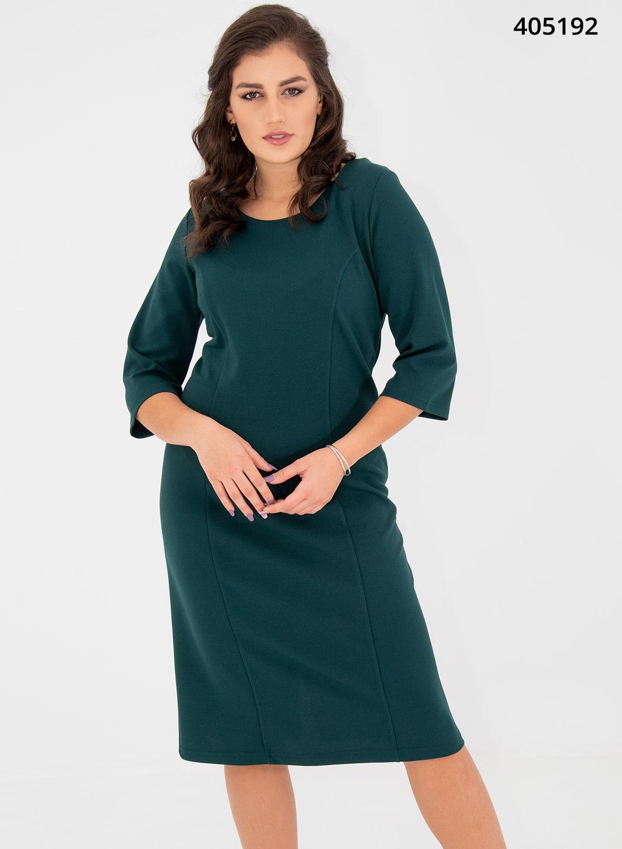 Κυπαρισσί midi ίσιο φόρεμα