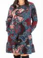Εμπριμέ φόρεμα με λαχούρια