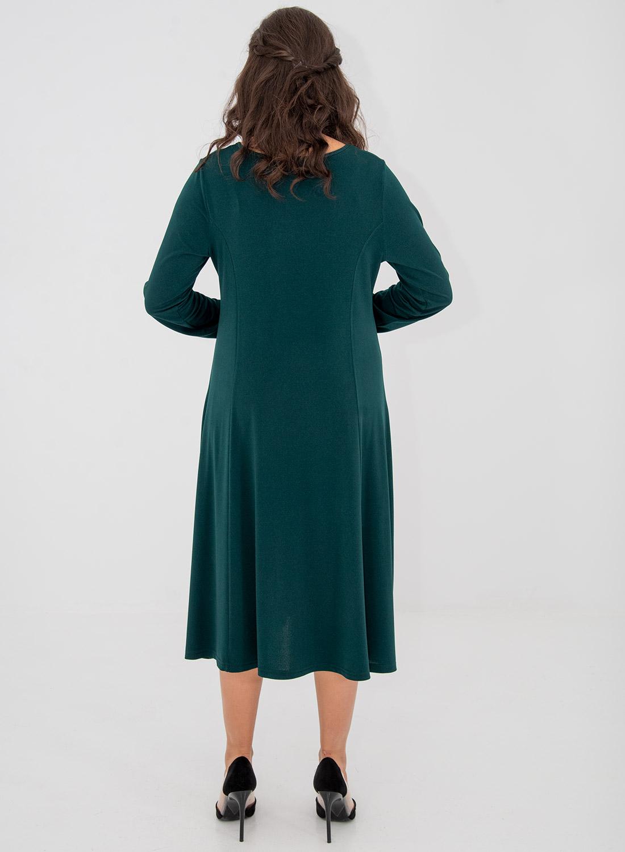 Κυπαρισσί μονόχρωμο φόρεμα με τσέπες