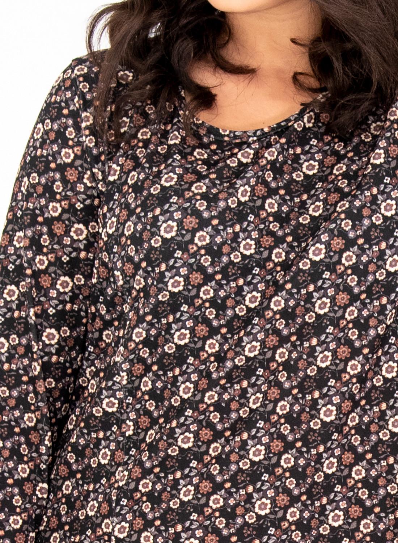 Ριχτό φλοράλ φόρεμα με τσέπες