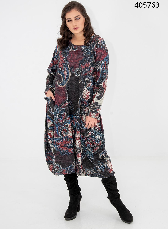 Ριχτό φόρεμα με λαχούρια
