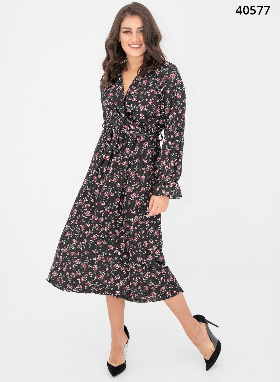 Φλοράλ ευκολοφόρετο θηλυκό φόρεμα