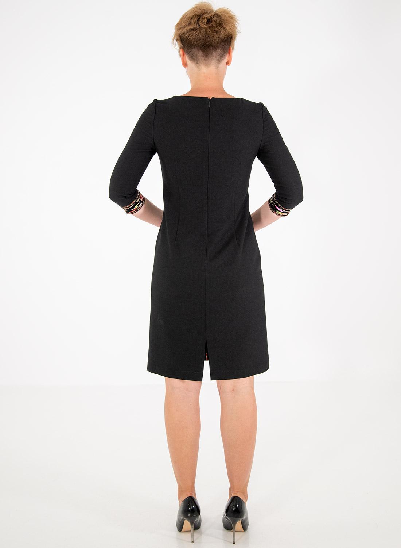 Μαύρο κολακευτικό φόρεμα με παγιέτες