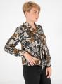 Φλοράλ αέρινη μπλούζα με δέσιμο