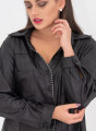 Εντυπωσιακό μαύρο πουκάμισο με τρουκς