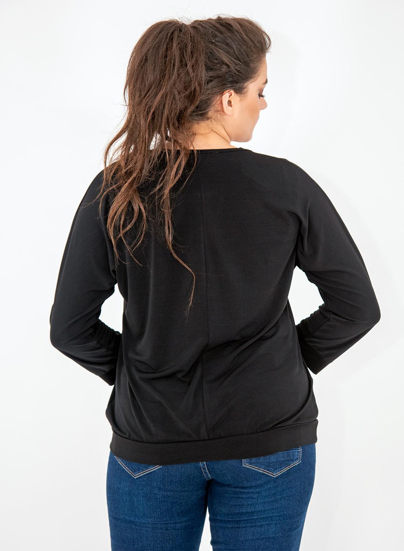 Μαύρη μπλούζα με δέσιμο