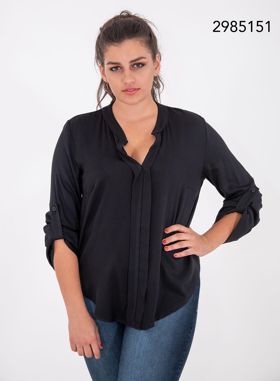 Μαύρη ευκολοφόρετη μπλούζα