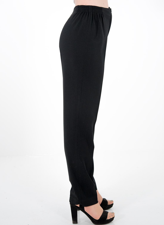 Μαύρο παντελόνι με λάστιχο δεξιά-αριστερά