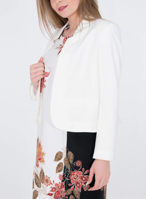 Λευκό μακρυμάνικο κοντό σακάκι