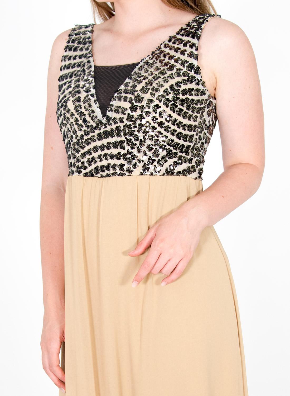 Αμπιγιέ μάξι φόρεμα με στρας