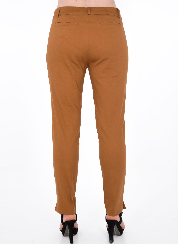 Καμηλό βαμβακερό παντελόνι