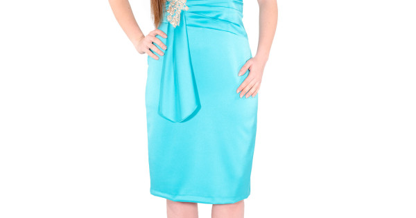 590199d5d79c Αμπιγιέ Midi Φόρεμα με μπούστο δαντέλας