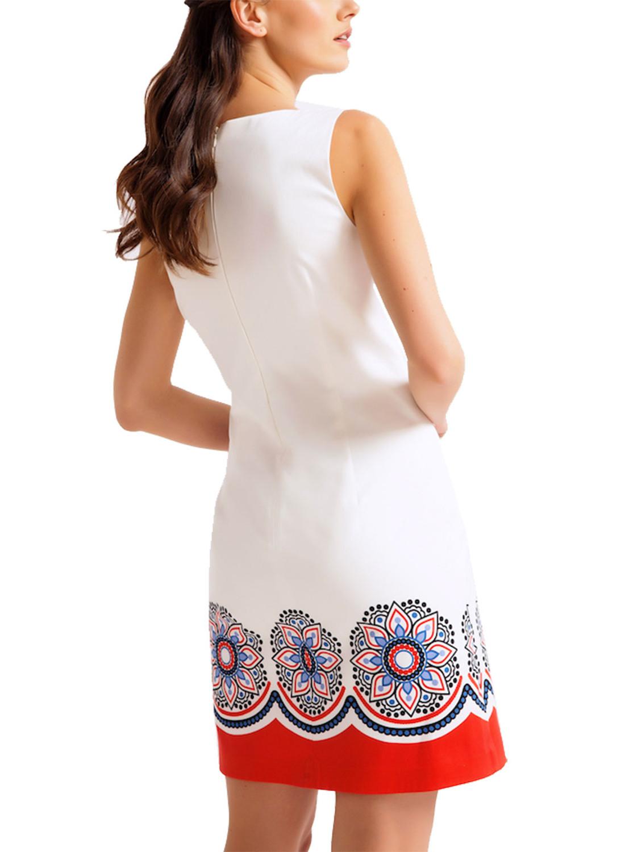 71e5e07ce9b2 Βαμβακερό φόρεμα με σικάτα μοτίβα