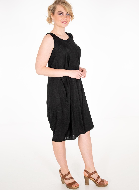 Αμάνικο λινό φόρεμα