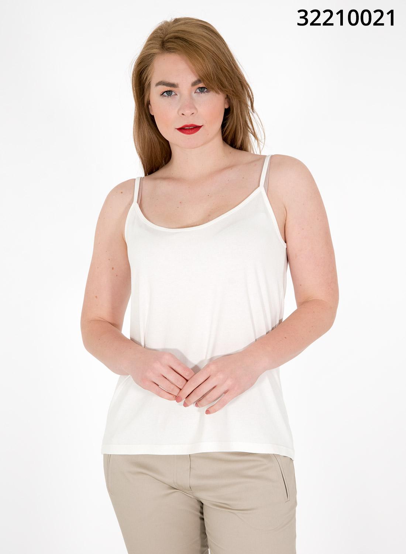 Λευκό μονόχρωμο τιραντάκι