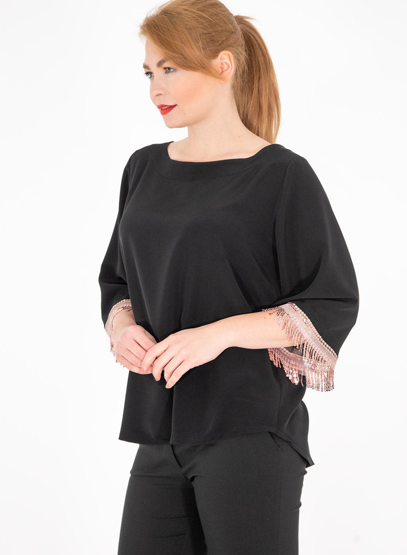 Μαύρη μπλούζα με παγιέτες