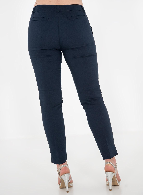 Μπλε παντελόνι με πλάγιες τσέπες