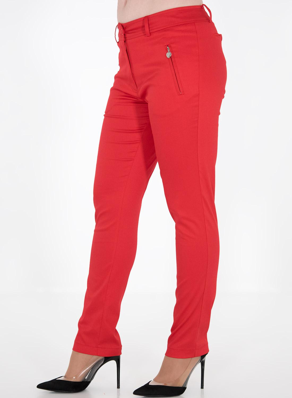 Κόκκινο ίσιο βαμβακερό παντελόνι