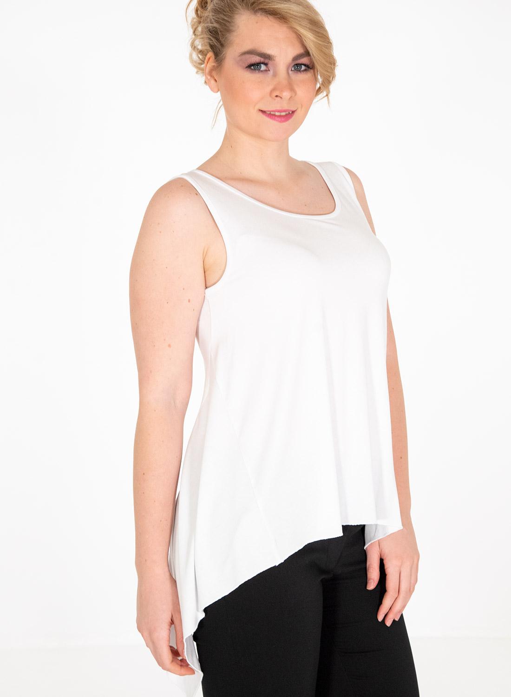 Λευκή ασύμμετρη μπλούζα