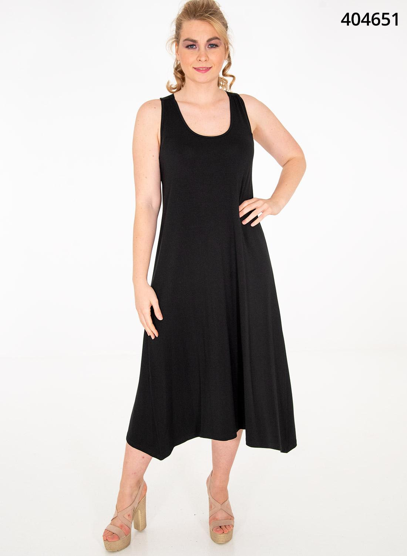 Μοντέρνο μαύρο φόρεμα