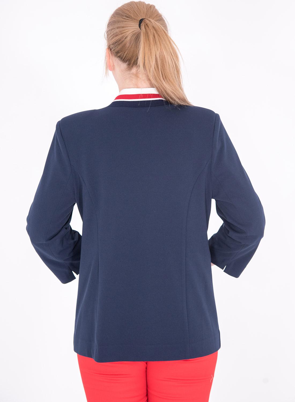 Μπλε σακάκι με κοντά μανίκια