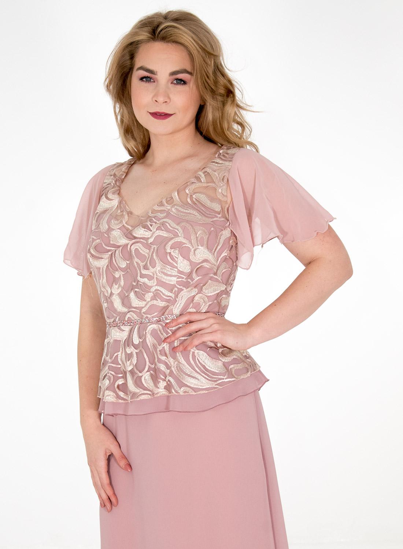 Φόρεμα με μπούστο δαντέλας