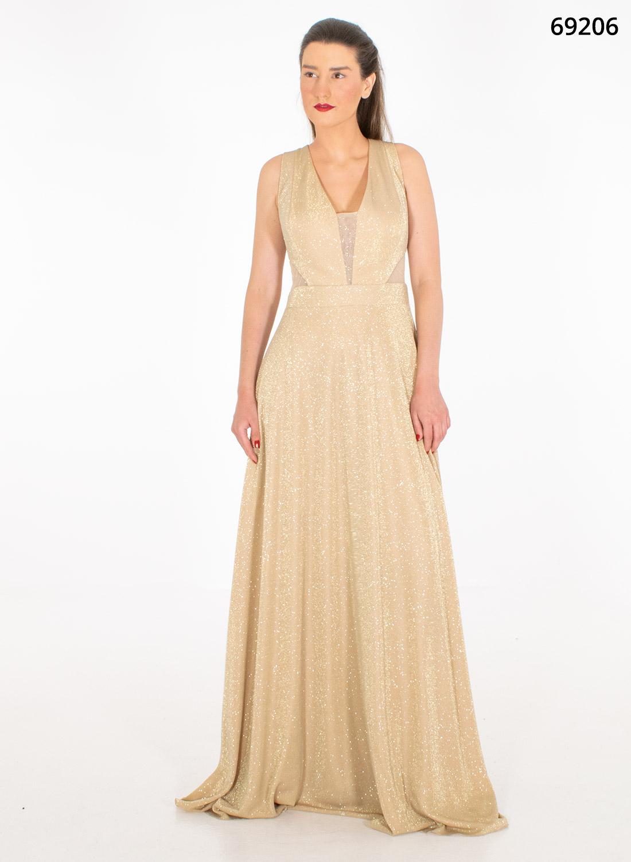 Εντυπωσιακό μάξι αμπιγιέ φόρεμα
