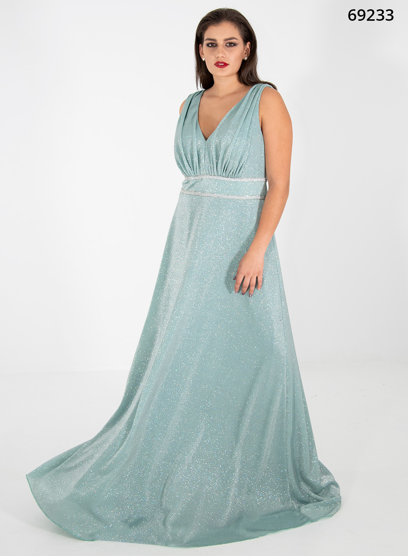 Maxi φόρεμα σε χρώμα μέντα