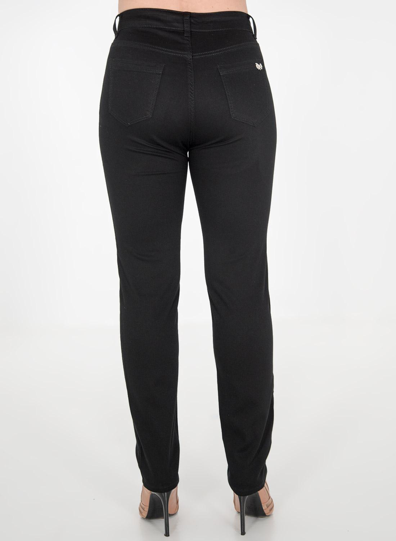Μαύρο ελαστικό πεντάτσεπο παντελόνι