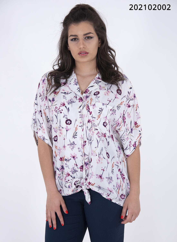 Κολακευτικό φλοράλ πουκάμισο