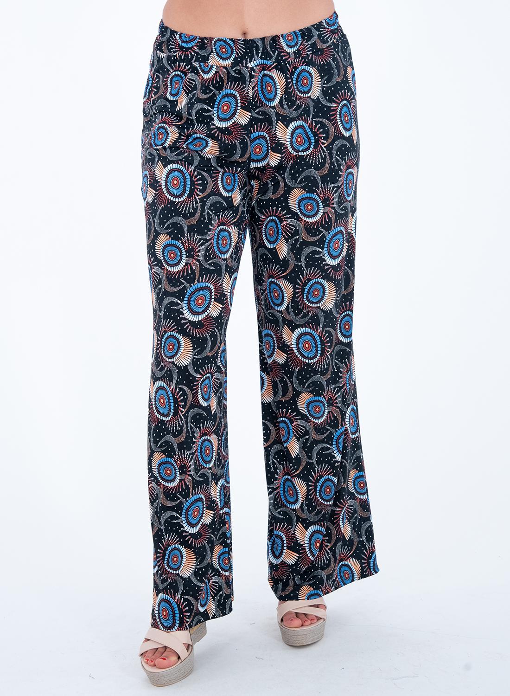 Εμπριμέ ευκολοφόρετη παντελόνα