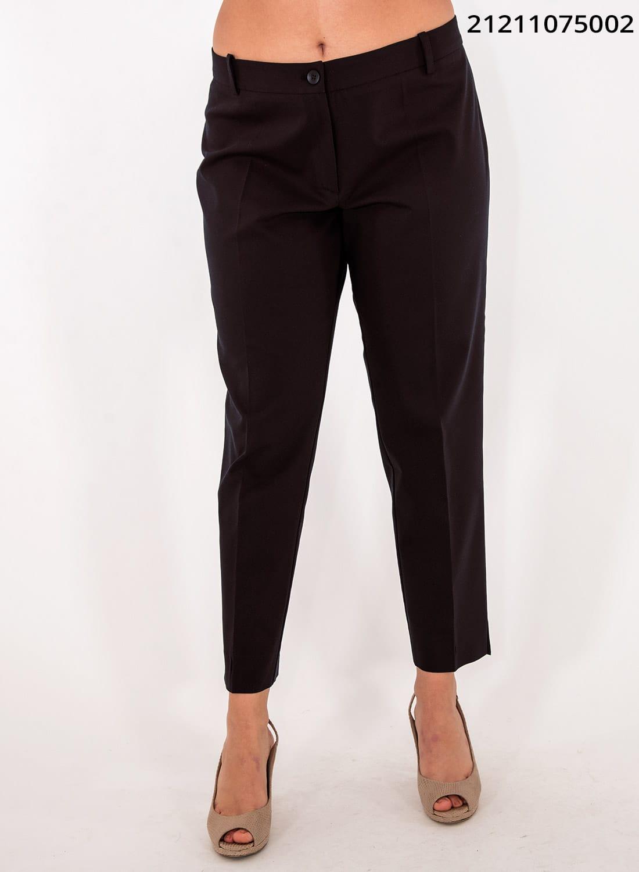 Μαύρο ελαστικό ίσιο παντελόνι