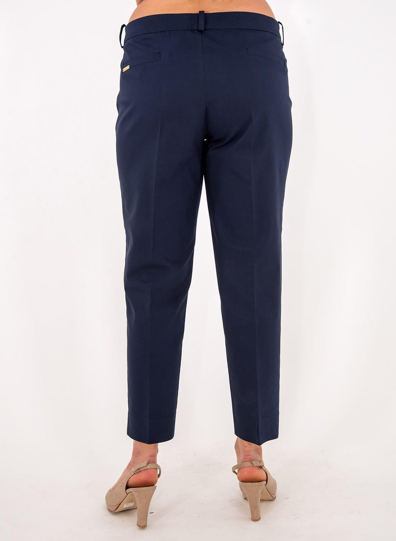 Μπλε ελαστικό ίσιο παντελόνι
